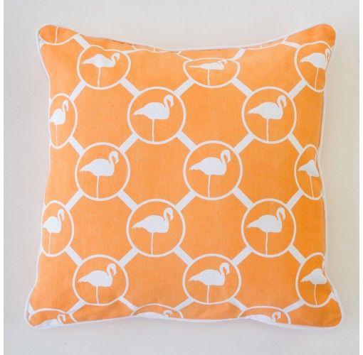 Flamingo Cushion in peach 45cm