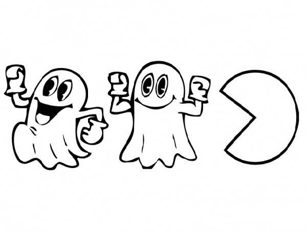 Pac Man Party Coloring Pages