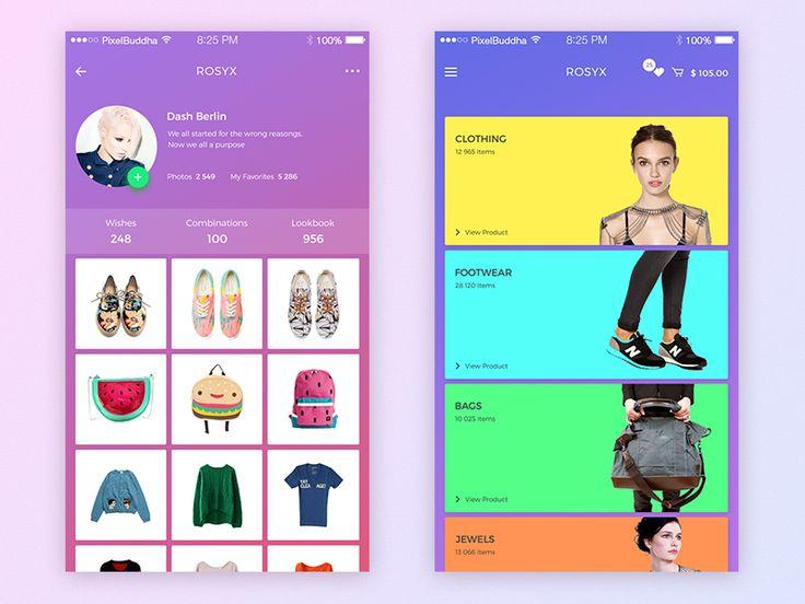 Rosyx - Mobile App by Yaroslav Zaytsev
