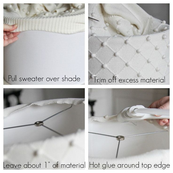 How to DIY a sweater lampshade