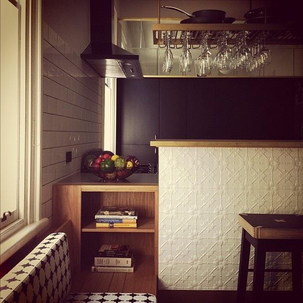 kitchen, pressed metal panel