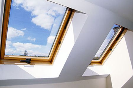 Skylights are a great way to get light into a room