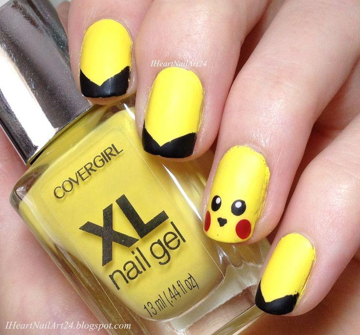 Pikachu Nail Art.
