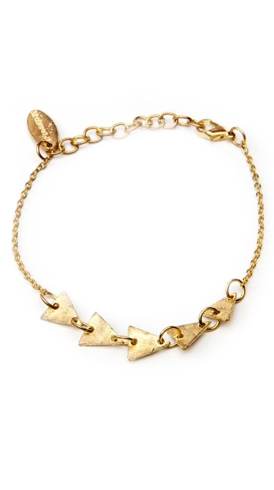 by Brianne Faye Geometric Bracelet, Gold