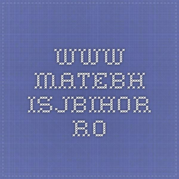 www.matebh.isjbihor.ro