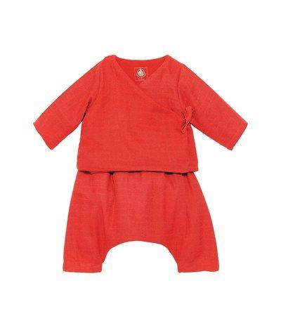 ensemble b b mixte veste et pantalon en tissu couche orange gingembre petit bateau child. Black Bedroom Furniture Sets. Home Design Ideas