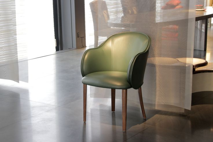 Armani Casa has created for the Salone del Mobile a green leather armchair and a red leather chair, with a clean and sophisticated design.  #ArmaniCasa #fuorisalone2016 #salonedelmobile16 #milano