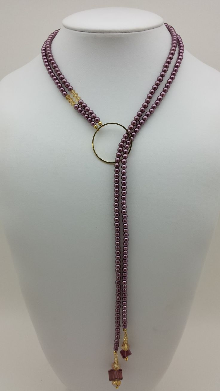 Beadalon Quick Link Single Link in Gold, Glass Pearl and Swarovski Crystal Necklace