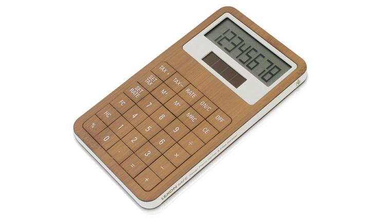 Bamboo Calculator by Lexon   MONOQI