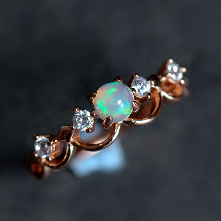 fashion rose gold opal promise ring http://www.jewelsin.com/p-fancy-rose-gold-plated-art-deco-opal-promise-ring-1471