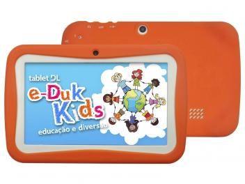 "Tablet DL e-Duk Kids 4GB Tela 7"" Wi-Fi Android 4.1 - Proc. 1,0 GHz Câmera 2MP…"