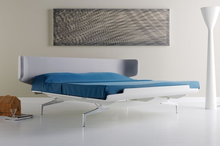 """""""The comfort of a upholstered #bed finds full expression in tessiletto, a new creation characterised by straightforward, essential lines"""" #design by Alfredo Häberli #design #interiordesign #interior #furniture #homedesign #bedroom"""