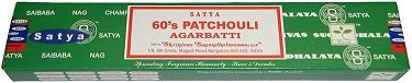 Nag Champa - 60's Patchouli Incense 15 Stick Box  Miss that classic patchouli scent from the days of old? Well here it is again, straight out of the 1960's! This fragrance by Satya Sai Baba, the makers of the famous Nag Champa, is the lastest addition to our collection, and hopefully yours too! #sunshinedaydream #hippieshop