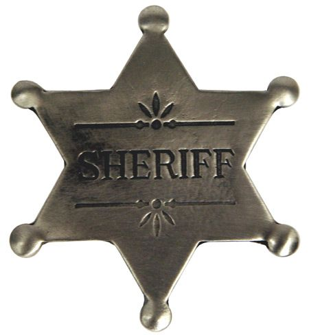Old West Badge - Sheriff Badge    $12.95