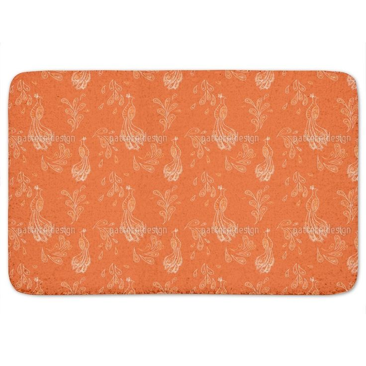 Uneekee Maharani Orange Bath Mat