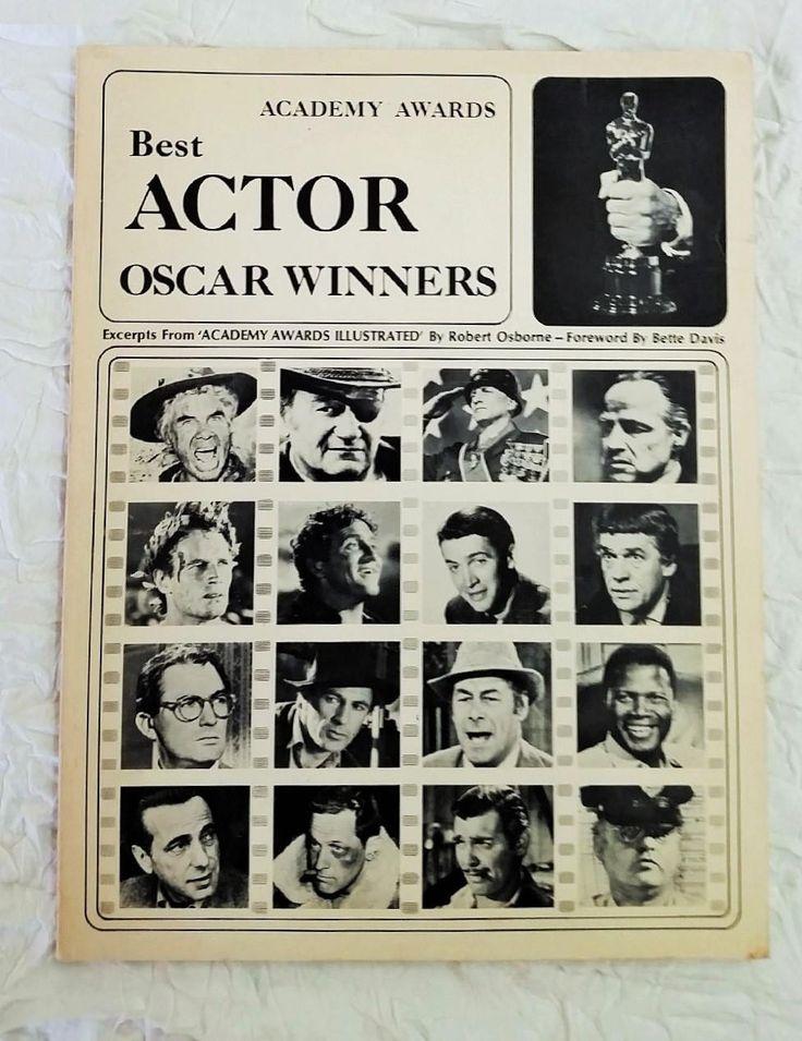"""1973 Academy Awards Book, """"Best Actor Oscar Winners"""", Osborne, Bette Davis intro"""