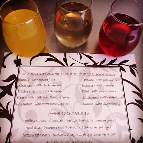 Wine Wednesday at C'est la Vie in Battle Ground is the place to enjoy a flight of three mimosas for $11 or a glass of C'est la Vie pinot noir/syrah blend for $5. C'est la Vie