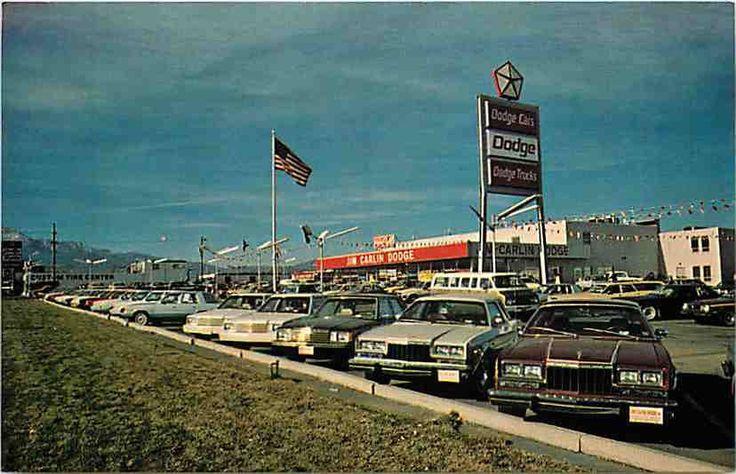 Jim Carlin Dodge Dealership in Colorado Springs, CO on Platte Ave (1980s)
