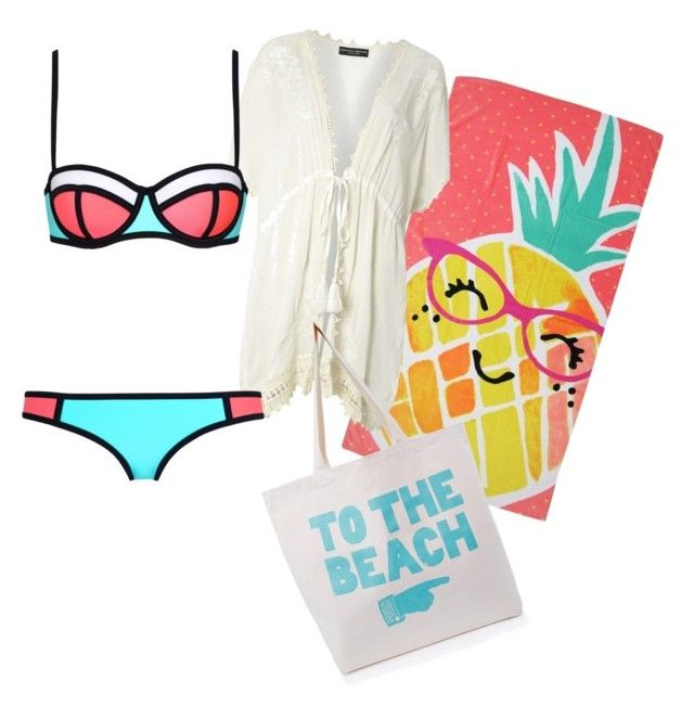 """beach"" by caoimheod on Polyvore featuring Evergreen, Dorothy Perkins and ALPHABET BAGS"