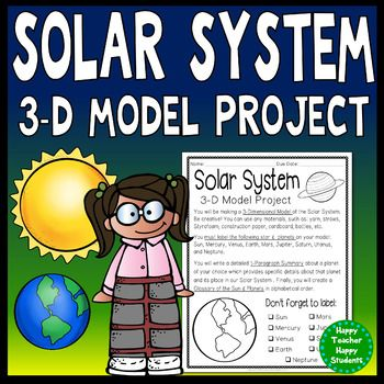 Solar System Project: 3-D Model of the Planets with Glossa