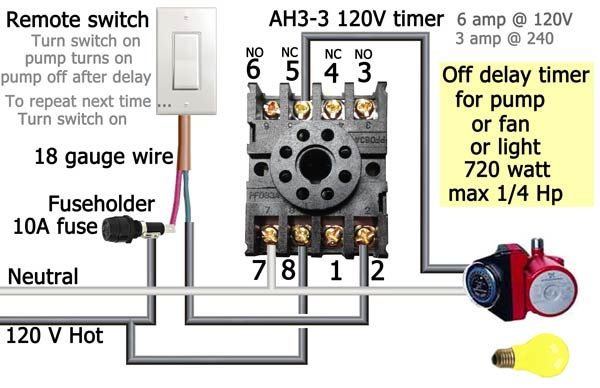 Delay Timer Wiring Timer Wire Electrical Panel