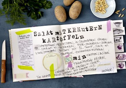 craft your own creative cooking book - DIY-this is in German ( i think) but i think the photo could be inspiration enough.