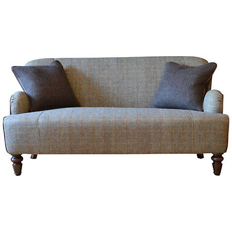 Tetrad harris tweed lewis petite 2 seater sofa bracken for Leather and tweed sofa