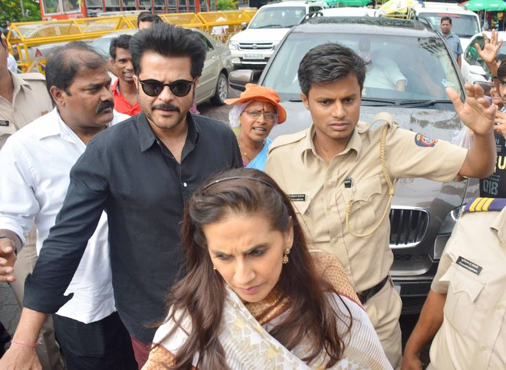 Check out the pictures of Anil Kapoor and Wife Sunita visiting Siddhivinayak Temple. Anil Kapoor's recently released film is Dil Dhadakne Do. For more visit #getmovieinfo