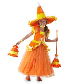 candy corn witch girls costume - Only at Chasing Fireflies - Her cauldron doesn't contain newt eyes, but candy corn!