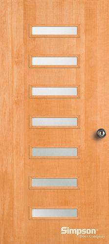 Contemporary Exterior Door Available In Various Wood Species And With  Textured Glass Options (screen Dot!) New Doors From Simpson