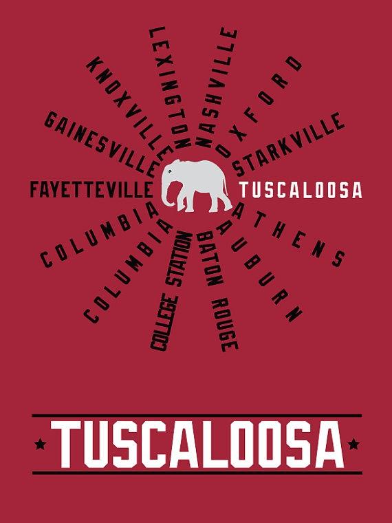 SEC college towns (Tuscaloosa!!)