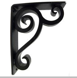 wrought iron corner brackets | ... counter support brackets decorative shelf brackets forged wrought iron