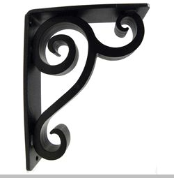 wrought iron corner brackets | ... counter support brackets decorative shelf brackets forged wrought iron