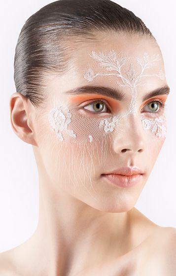 Lace makeup #halloween