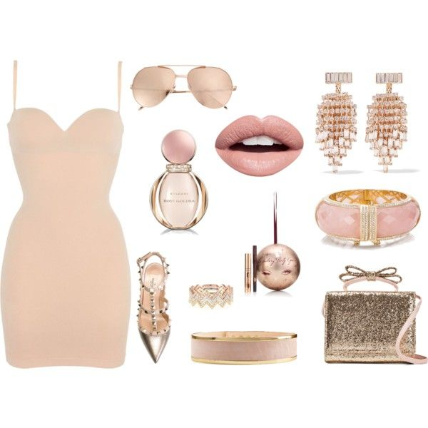 How to...Be prety in Pink by vicky-angelidou-pappas on Polyvore featuring Wolford, Valentino, RED Valentino, EF Collection, Kate Spade, Kenneth Jay Lane, Linda Farrow, Balmain, Nevermind and Bulgari