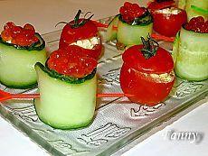 Фаршированные помидоры-черри и роллы из огурцов — закуски для фуршета | Кошкин дом