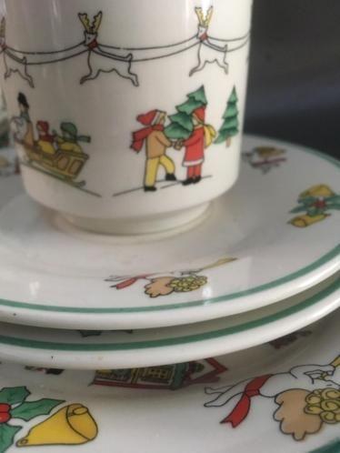 Tweedehands Servies Kopen.Te Koop Kunlun Vintage Kerst Servies Shopvintagebeauties Kerst
