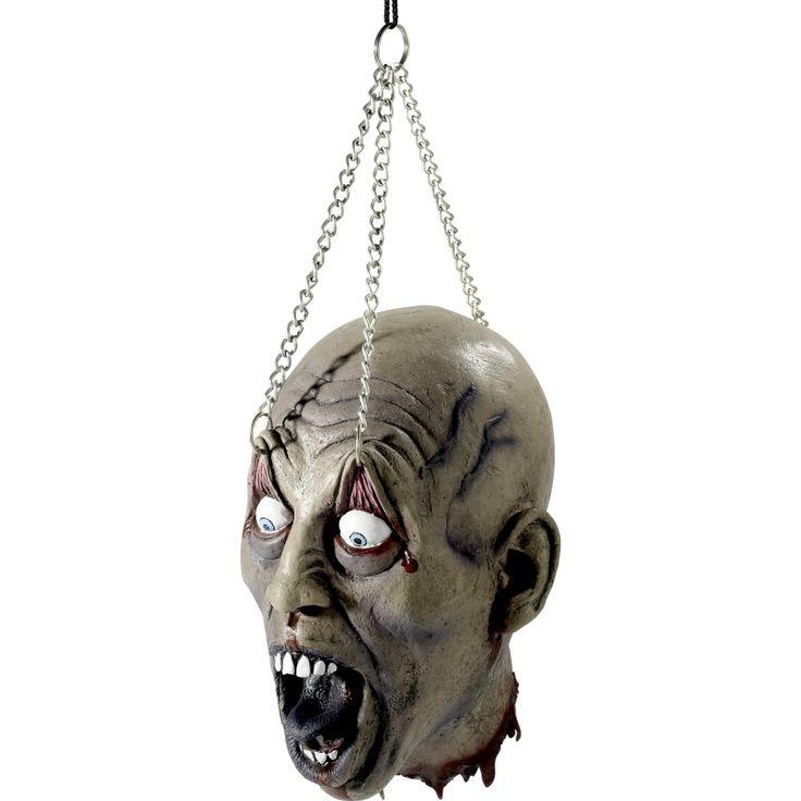 Horror hoofd aan ketting  Hangend zombie horror hoofd. Griezelig latex hoofd hangend aan een ketting.  EUR 21.95  Meer informatie