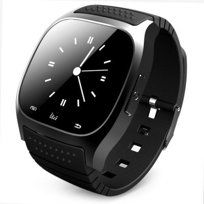 Trendy Style R-Watch M26 LED Bluetooth Watch with Dial / Call Answer / SMS Reminding / Music Player / Anti-lost / Passometer / Thermometer Function for Samsung / HTC + More-31.49 and Free Shipping| GearBest.com