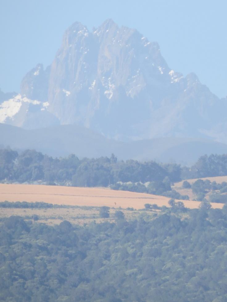 Jennifer 2012.  Climbed it! Mount Kenya seen from Lewa Downs Wildlife Conservancy - www.lewasafaricamp.com