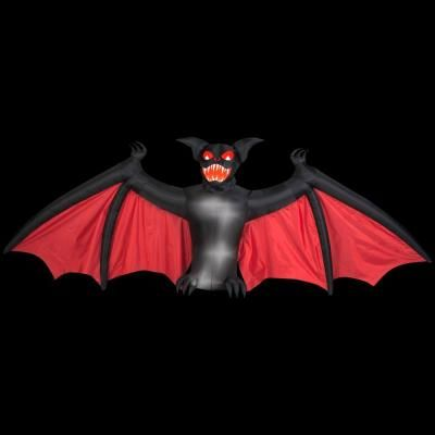 h animated inflatable scary bat 53980 the home depot halloween inflatablesoutdoor halloween decorationsyard