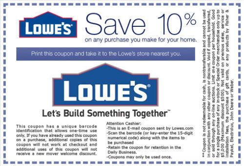awesome (2) Newest 10% Off Lowe's-Coupons Printable - Exp ...