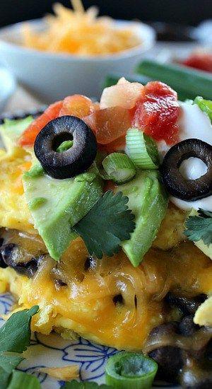 Black Bean Mexican Omelette