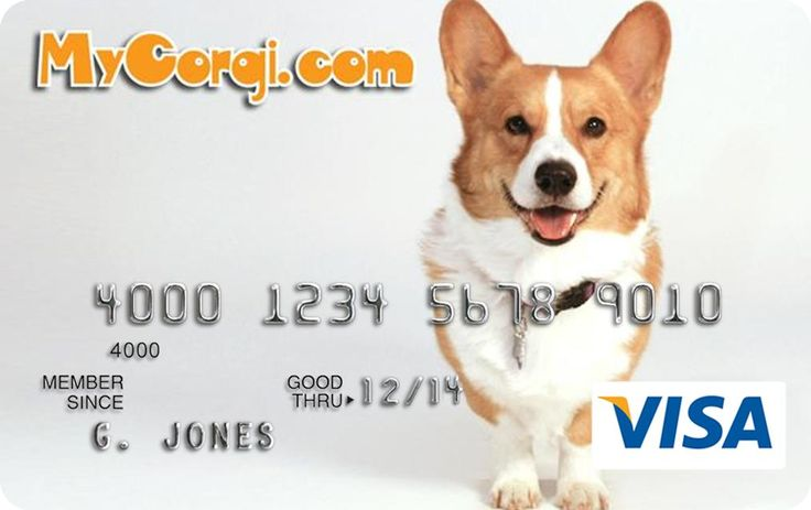 Corgi Rescue Visa Card.. can design own card !
