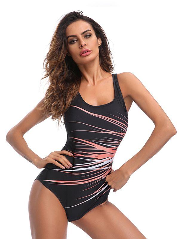 b5c4ac928e7f8 CJCMALL 2018 Plus Size One Piece Swimsuit Women's Triangular Sports  Swimwear Bathing Suit#Piece, #Swimsuit, #Size