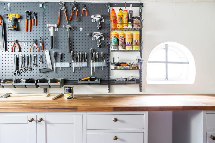 Bromma källare verktyg ordning arbetsbänk äntligen hemma