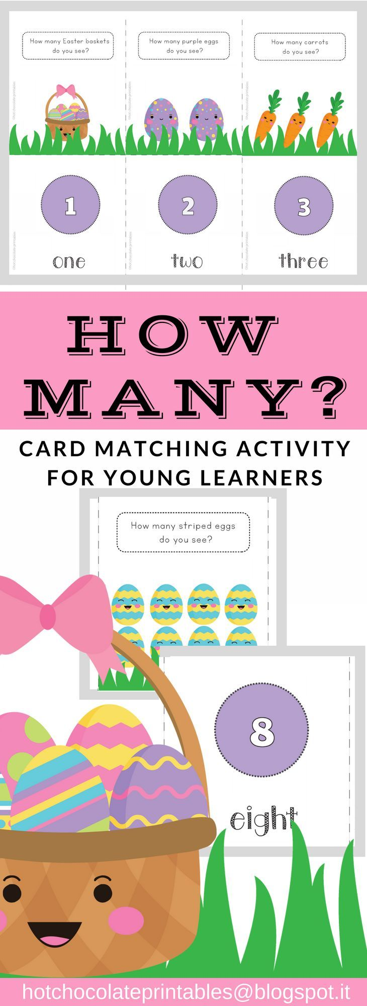 Easter Card Match Activity - Numbers 1 to 10