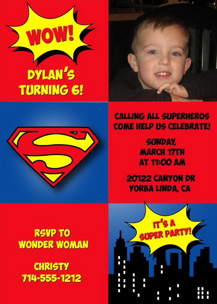 Best 25+ Superman invitations ideas on Pinterest | Superman party ...