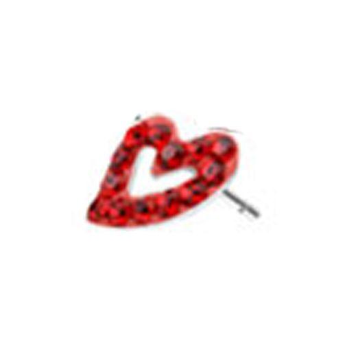 Oorbellen hartje steentjes rood