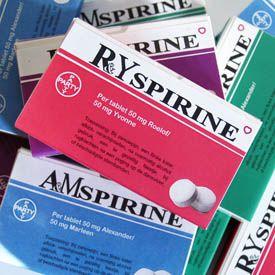 Gepersonaliseerd doosje aspirine als bedankje voor bruiloft. Gevonden op: http://www.trouwenz.net/